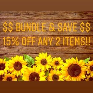 Bundle Alert!! Automatic 15% off on any 2 items!